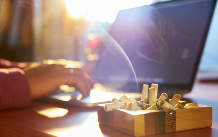 cigarette smoke in home